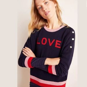 New Anthropologie Sundry Love Button Sweater